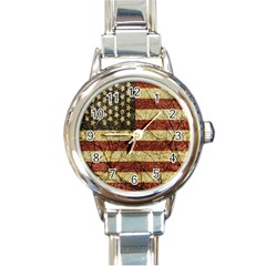 Vinatge American Roots Round Italian Charm Watch by dflcprints