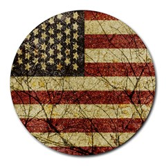 Vinatge American Roots 8  Mouse Pad (round) by dflcprints