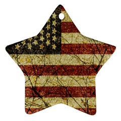 Vinatge American Roots Star Ornament by dflcprints