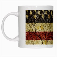 Vinatge American Roots White Coffee Mug by dflcprints