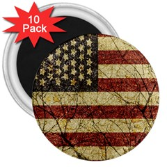 Vinatge American Roots 3  Button Magnet (10 Pack) by dflcprints