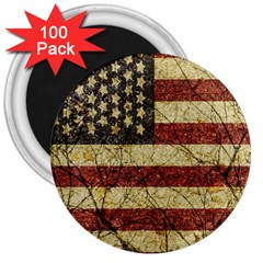 Vinatge American Roots 3  Button Magnet (100 Pack) by dflcprints