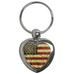 Vinatge American Roots Key Chain (heart) by dflcprints