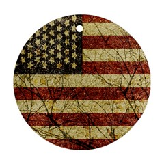 Vinatge American Roots Round Ornament (two Sides) by dflcprints