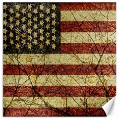 Vinatge American Roots Canvas 16  X 16  (unframed) by dflcprints