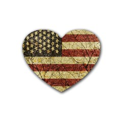 Vinatge American Roots Drink Coasters 4 Pack (heart)  by dflcprints