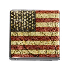 Vinatge American Roots Memory Card Reader With Storage (square) by dflcprints