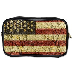 Vinatge American Roots Travel Toiletry Bag (one Side) by dflcprints