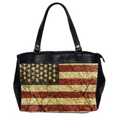 Vinatge American Roots Oversize Office Handbag (two Sides) by dflcprints