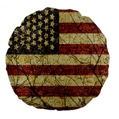 Vinatge American Roots 18  Premium Round Cushion  by dflcprints