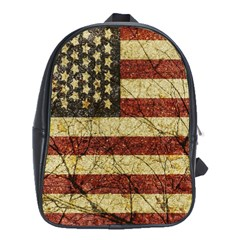 Vinatge American Roots School Bag (xl) by dflcprints