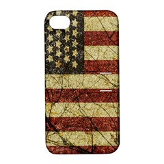 Vinatge American Roots Apple Iphone 4/4s Hardshell Case With Stand by dflcprints