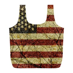 Vinatge American Roots Reusable Bag (l) by dflcprints