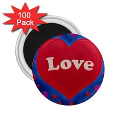 Love Theme Concept  Illustration Motif  2 25  Button Magnet (100 Pack) by dflcprints