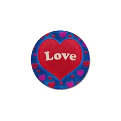 Love Theme Concept  Illustration Motif  Golf Ball Marker by dflcprints