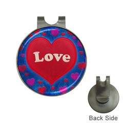 Love Theme Concept  Illustration Motif  Hat Clip With Golf Ball Marker by dflcprints
