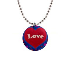 Love Theme Concept  Illustration Motif  Button Necklace by dflcprints