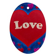 Love Theme Concept  Illustration Motif  Oval Ornament (two Sides) by dflcprints