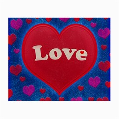 Love Theme Concept  Illustration Motif  Glasses Cloth (small, Two Sided) by dflcprints