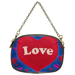 Love Theme Concept  Illustration Motif  Chain Purse (one Side) by dflcprints