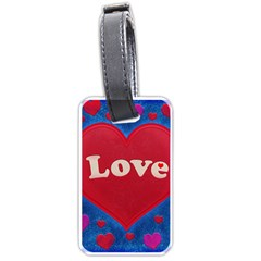 Love Theme Concept  Illustration Motif  Luggage Tag (two Sides) by dflcprints
