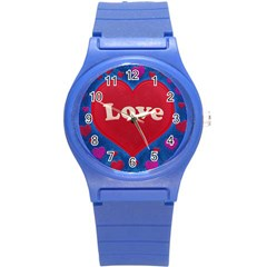 Love Theme Concept  Illustration Motif  Plastic Sport Watch (small) by dflcprints