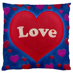 Love Theme Concept  Illustration Motif  Large Cushion Case (two Sided)  by dflcprints