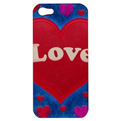 Love Theme Concept  Illustration Motif  Apple Iphone 5 Hardshell Case by dflcprints