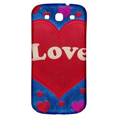 Love Theme Concept  Illustration Motif  Samsung Galaxy S3 S Iii Classic Hardshell Back Case