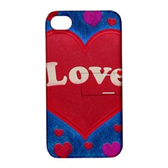 Love Theme Concept  Illustration Motif  Apple Iphone 4/4s Hardshell Case With Stand by dflcprints