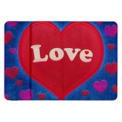 Love Theme Concept  Illustration Motif  Samsung Galaxy Tab 8 9  P7300 Flip Case by dflcprints