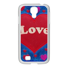 Love Theme Concept  Illustration Motif  Samsung Galaxy S4 I9500/ I9505 Case (white)