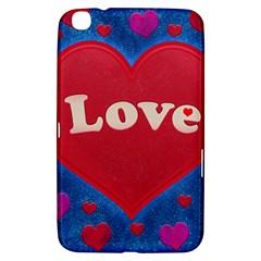 Love Theme Concept  Illustration Motif  Samsung Galaxy Tab 3 (8 ) T3100 Hardshell Case  by dflcprints