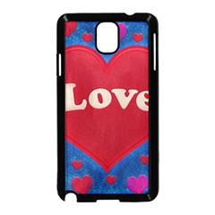 Love Theme Concept  Illustration Motif  Samsung Galaxy Note 3 Neo Hardshell Case (black)