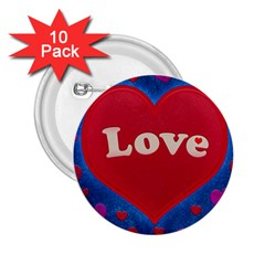Love Theme Concept  Illustration Motif  2 25  Button (10 Pack) by dflcprints