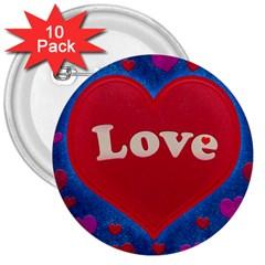 Love Theme Concept  Illustration Motif  3  Button (10 Pack) by dflcprints