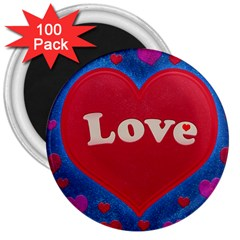 Love Theme Concept  Illustration Motif  3  Button Magnet (100 Pack) by dflcprints