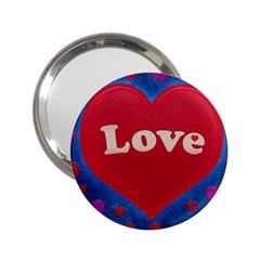 Love Theme Concept  Illustration Motif  Handbag Mirror (2 25 ) by dflcprints