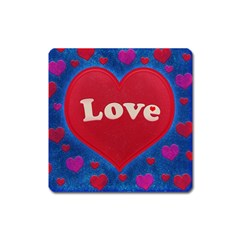 Love Theme Concept  Illustration Motif  Magnet (square) by dflcprints
