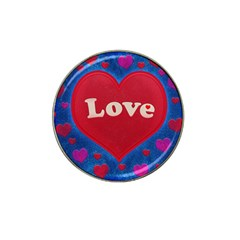 Love Theme Concept  Illustration Motif  Golf Ball Marker 4 Pack (for Hat Clip) by dflcprints