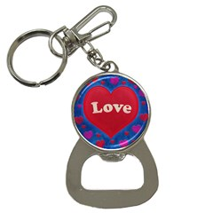 Love Theme Concept  Illustration Motif  Bottle Opener Key Chain by dflcprints