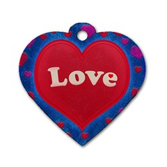 Love Theme Concept  Illustration Motif  Dog Tag Heart (one Sided)  by dflcprints