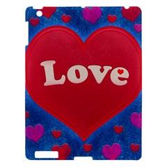 Love Theme Concept  Illustration Motif  Apple Ipad 3/4 Hardshell Case by dflcprints