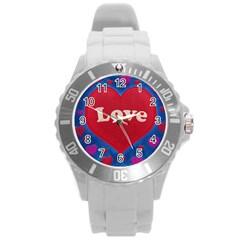 Love Theme Concept  Illustration Motif  Plastic Sport Watch (large) by dflcprints
