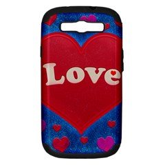 Love Theme Concept  Illustration Motif  Samsung Galaxy S Iii Hardshell Case (pc+silicone) by dflcprints