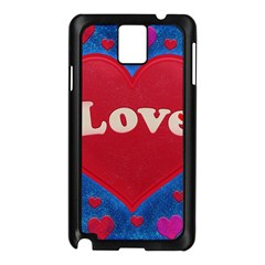Love Theme Concept  Illustration Motif  Samsung Galaxy Note 3 N9005 Case (black)