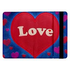 Love Theme Concept  Illustration Motif  Samsung Galaxy Tab Pro 12 2  Flip Case by dflcprints