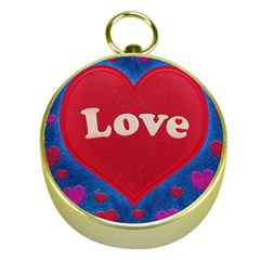 Love Theme Concept  Illustration Motif  Gold Compass