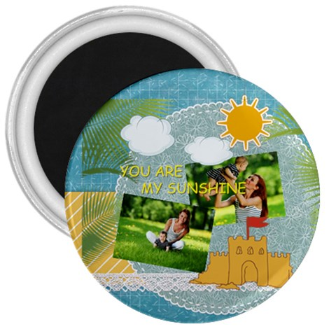 Summer By Summer Time    3  Magnet   Yy5albuxvniv   Www Artscow Com Front