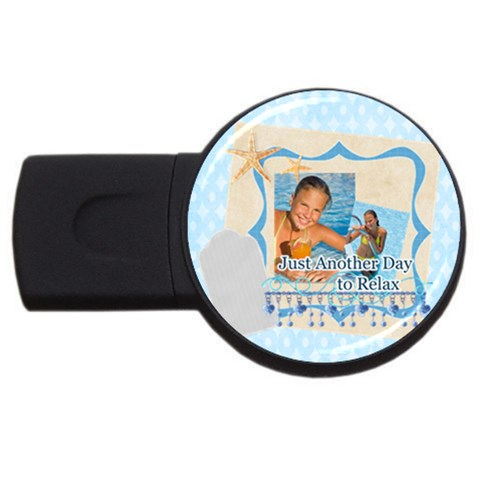 Summer By Summer Time    Usb Flash Drive Round (1 Gb)   C0eokb7nutby   Www Artscow Com Front